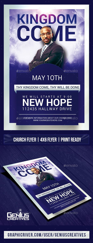 Kingdom Come Church Flyer Template Flyer Template Gospel Concert