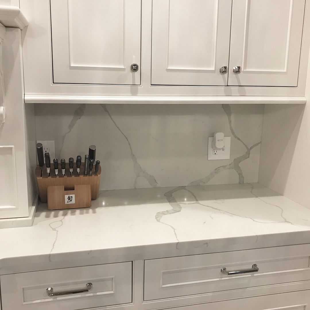 . Custom full height backsplash matching your granite