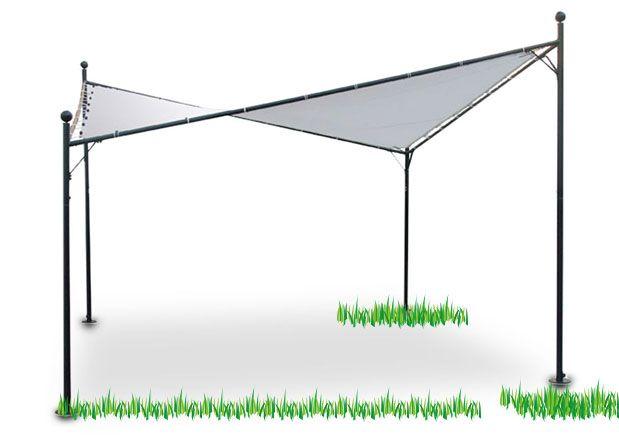 Vendita online offerta gazebo copertura a vela sail 4x4mt for Arredo giardino vendita on line