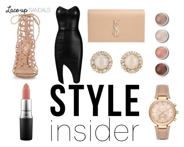 """""""Pale Pink Party"""" by chelseaaskyee ❤ liked on Polyvore featuring Gianvito Rossi, Posh Girl, Yves Saint Laurent, MAC Cosmetics, Michael Kors, Kate Spade, Terre Mère, contestentry, laceupsandals and PVStyleInsiderContest"""