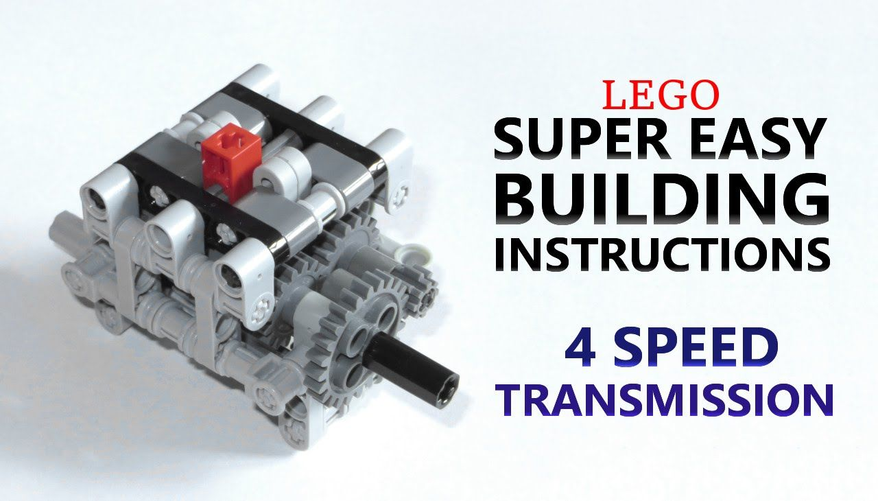 Super Easy Building Instructions - 4 Speed Gearbox - Lego ...