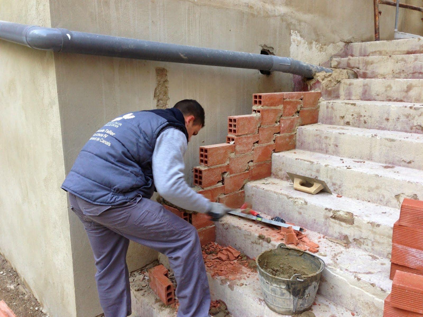 Construcci n de escaleras en el blog el maestro de obras - Escaleras de ladrillo ...