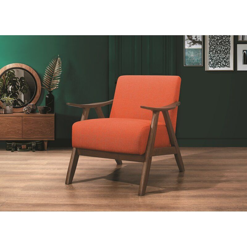 Hofstetter Armchair Accent Chairs Home Decor Orange Accent Chair