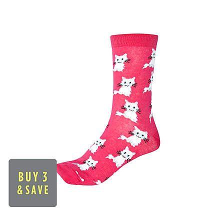 Kitty socks eeeeeeee Cat print socks, Sock accessories