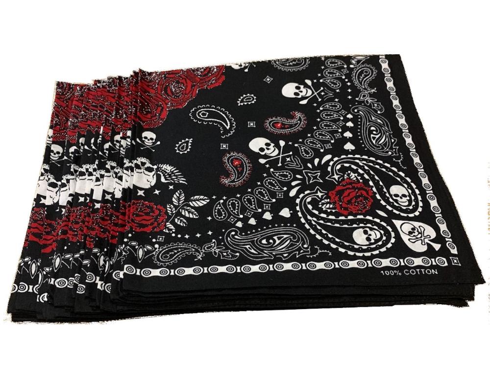 Zebra Print Bandana Paisley Bandana Red Rose Bandana Soft 100/% Cotton Bandanas Black /& White Bandana