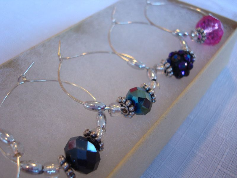 Set of 8 Wine Glass Charms.