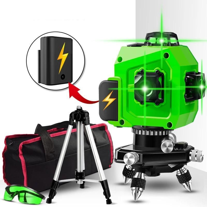 3d Auto Leveling Laser Level With Pulse Function Laser Levels Green Laser Vertical