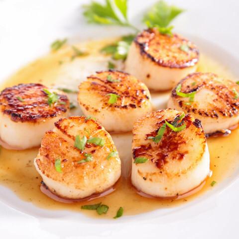 Seared White Wine Scallops Recipe In 2020 Scallop Recipes Shellfish Recipes Scallops