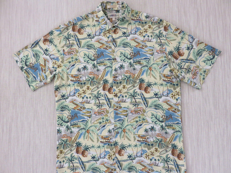 f1fb55f8 Hawaiian Shirt Men CAMPIA MODA Vintage Inspired Sea Plane Airplane Woody  Surfboards Tropical Print Surf Camp - XL - Oahu Lew's Shirt Shack by ...