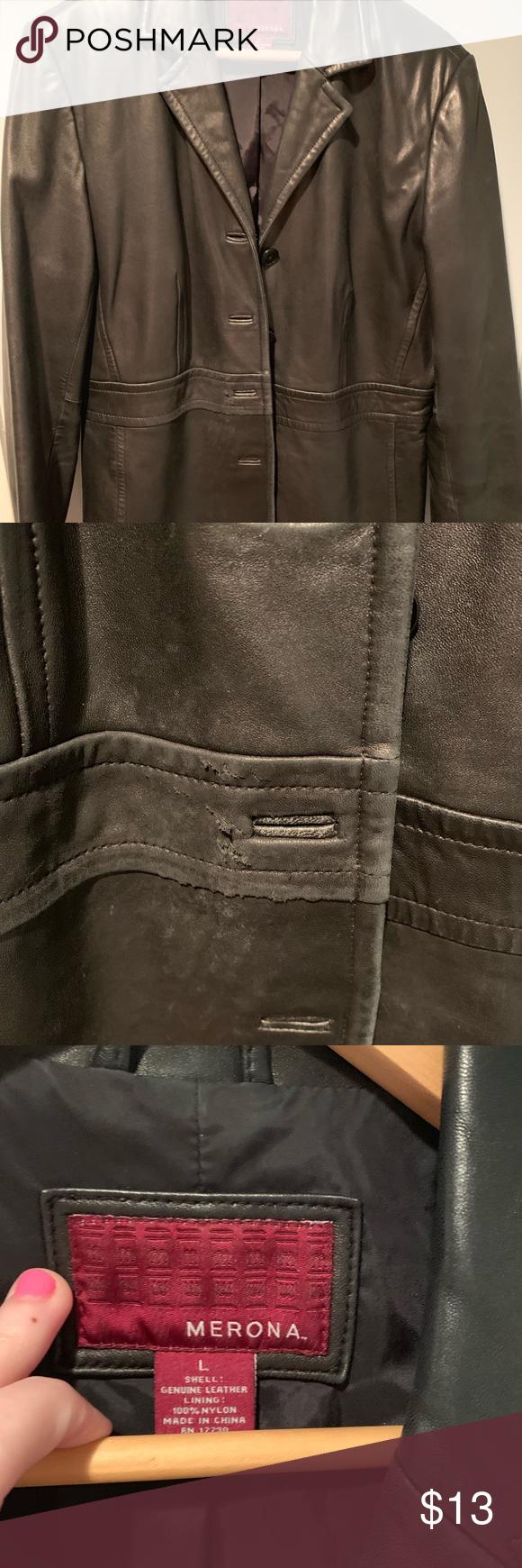 Target Merona Black Real Leather Jacket Real Leather Jacket Leather Jacket Real Leather [ png ]