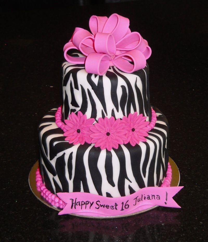 Fuchsia Sweet 16 Cakes