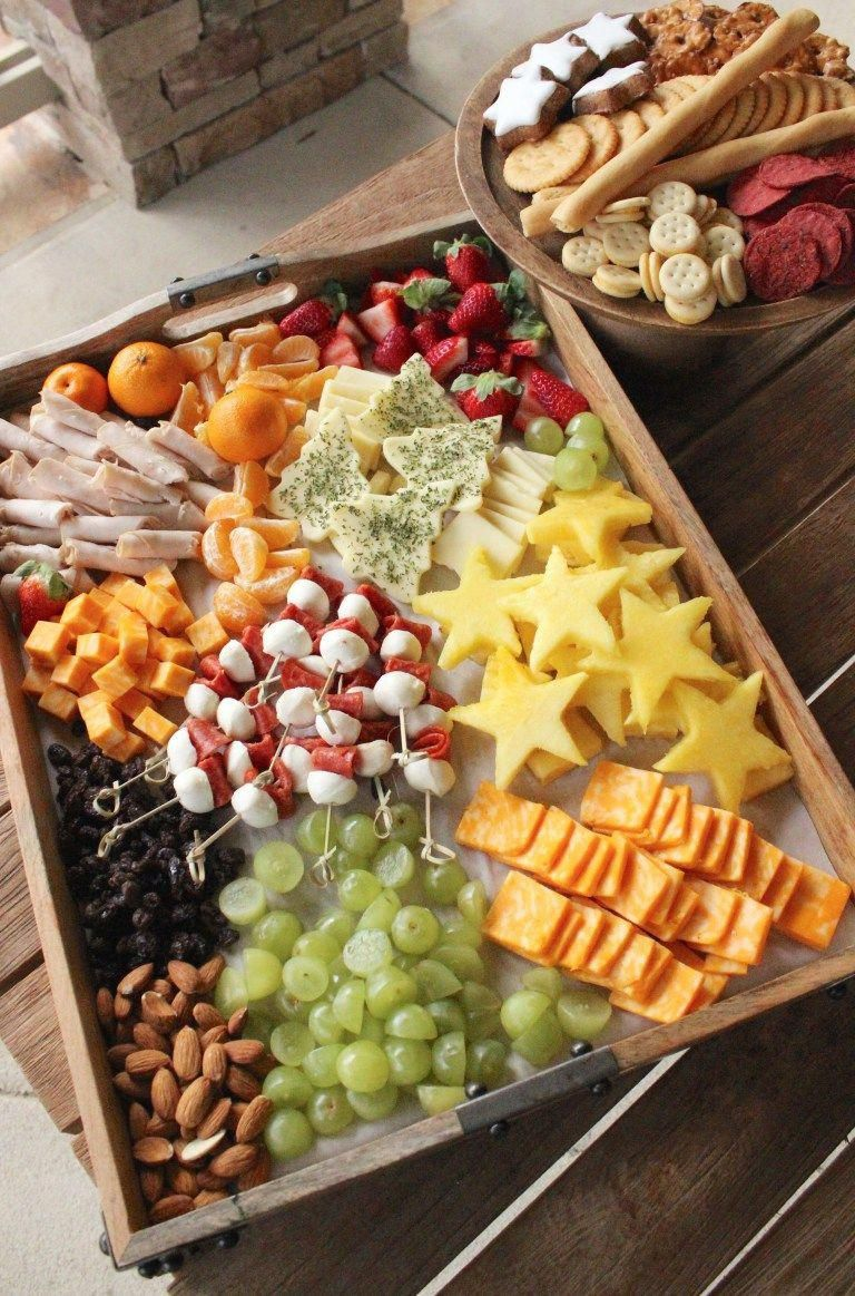 Christmas Platters And Trays.Holiday Christmas Cheese Tray For Kids Christmasfood
