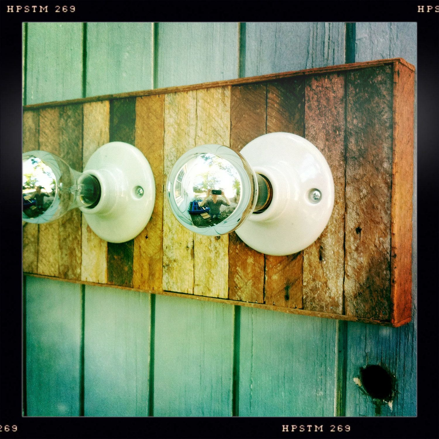 Reclaimed Wood Lath and Porcelain Flush Mount by TheModMercantile ...