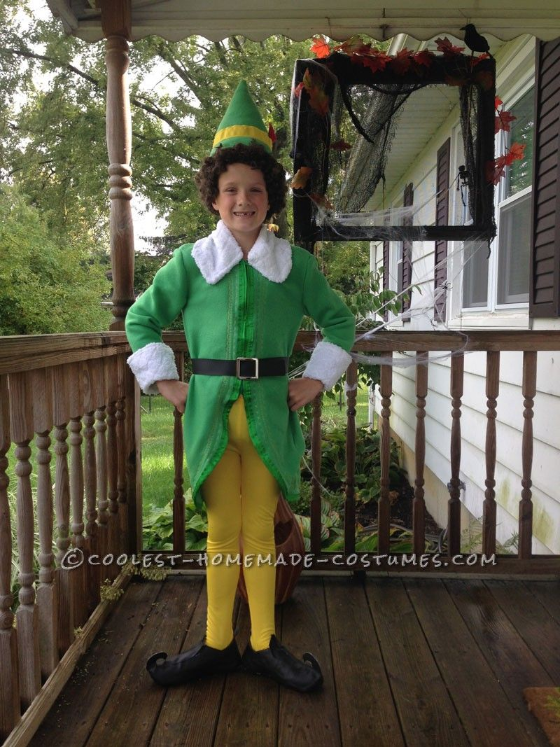 Coolest Homemade Buddy The Elf Costume Christmas Elf Costume Diy Elf Costume Buddy The Elf Costume