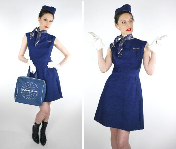 Reserved For Karen Best Vintage 50s 60s Stewardess Flight Attendant