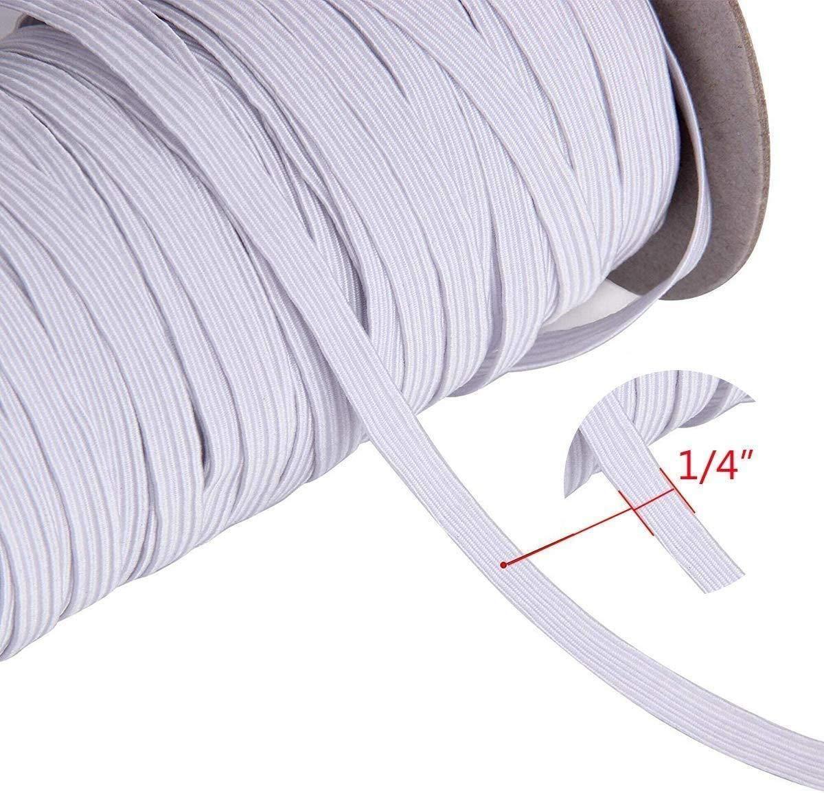 High Quality White Braided Elastic Cord Elastic Band 100 Yard Colapa Home In 2020 Elastic Band 100 Yards Elastic