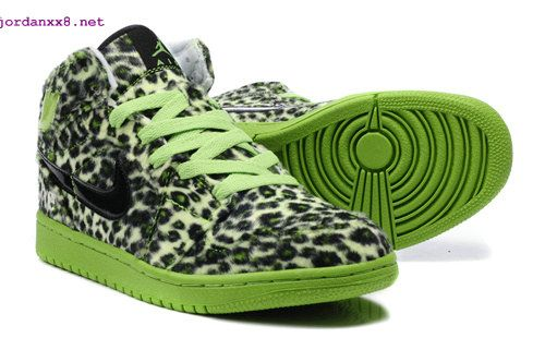 new products b269a ee0d4 Cheetah Print  Jordans 1 High Olympic Leopard Grain Black Lime Green  great   things