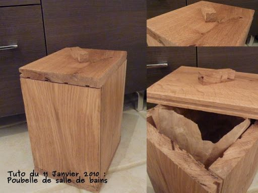 poubelle salle de bain enbois tuto id es pour la. Black Bedroom Furniture Sets. Home Design Ideas