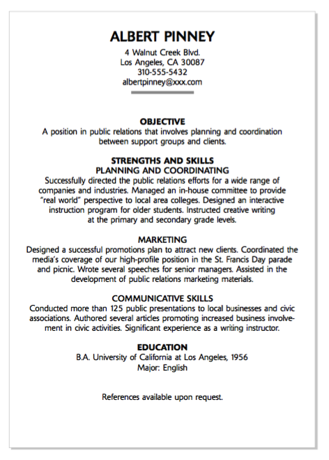 Example Of Public Relations Resume http