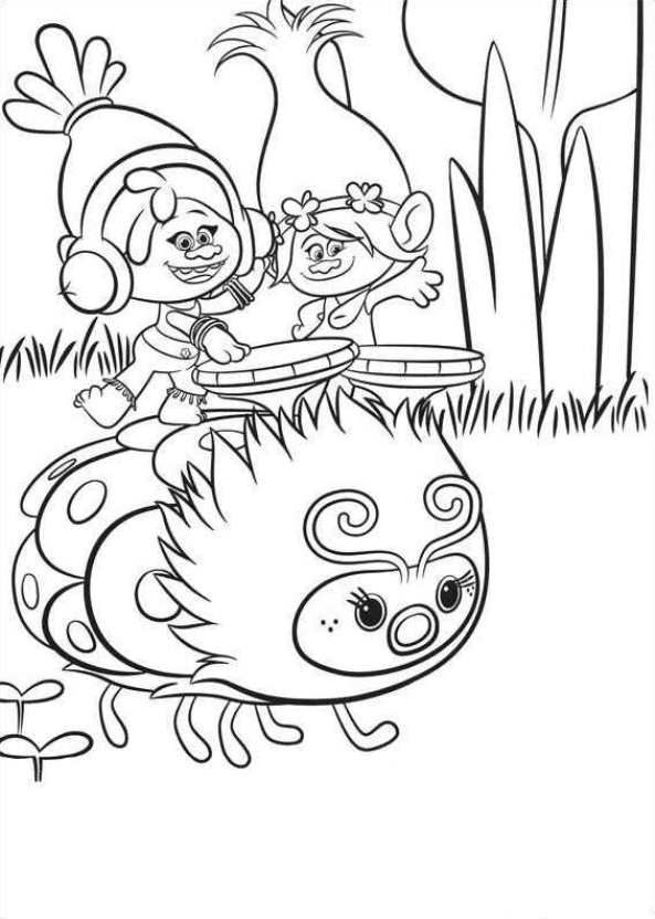 34+ Poppy troll coloring page free info