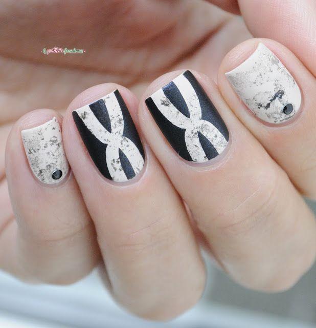 Essie wrap me up + spun in luxe matte marble nail art   Aniamls ...