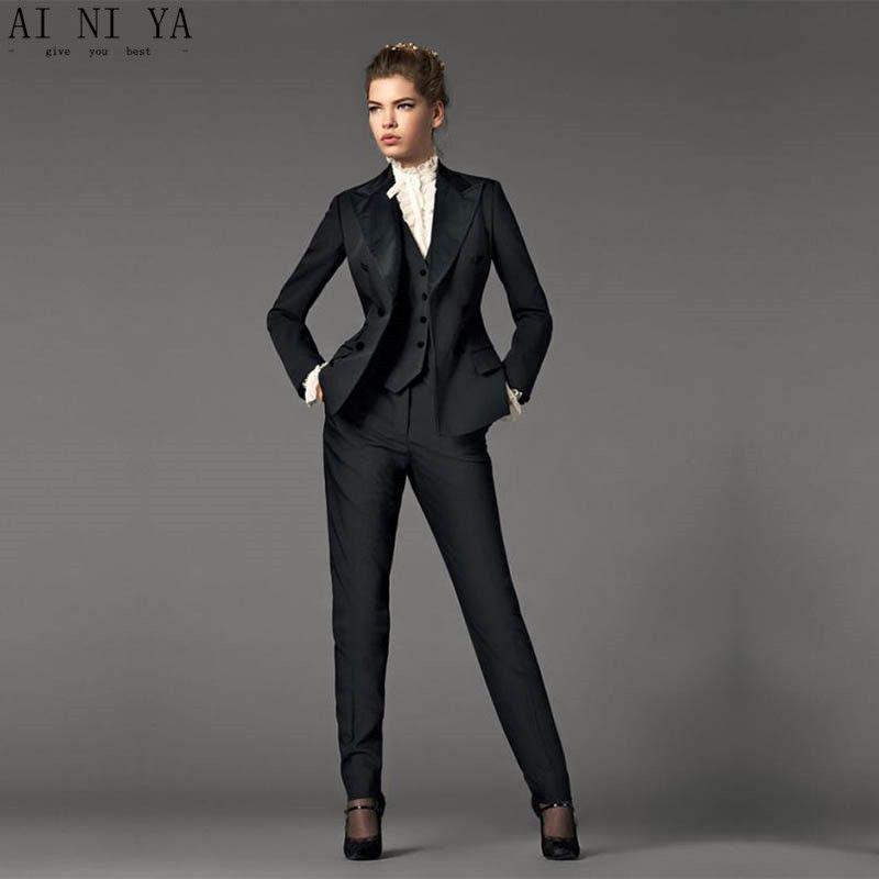 Ladies Black Pant Suit Sale