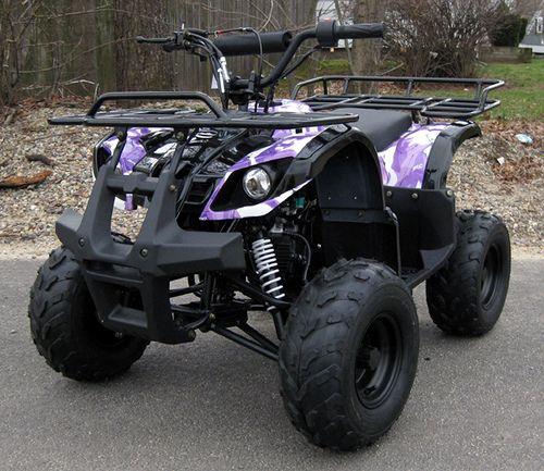 110cc purple camo atv  purple camo atv dirtbikes