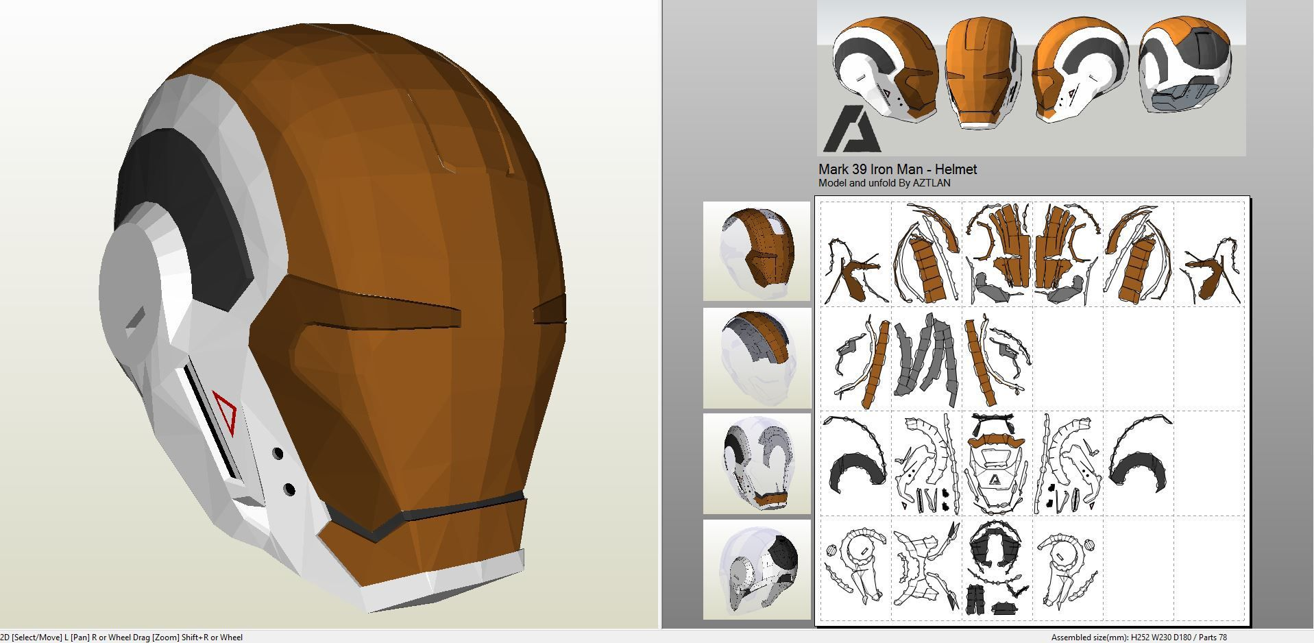 Papercraft template for Overwatch - Genji Helmet. | Henri paper ...