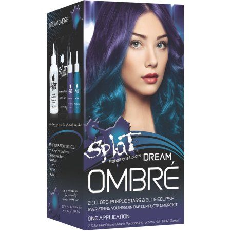 splat semi permanent bold ombr hair color kit dream ombr
