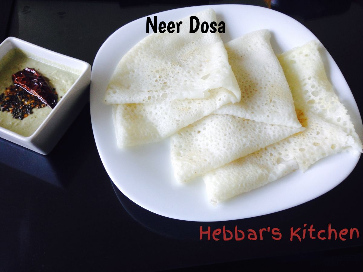 Neer Dosa Recipe / Rice and Coconut Crepe Recipe | Crêpes, Cuisine ...
