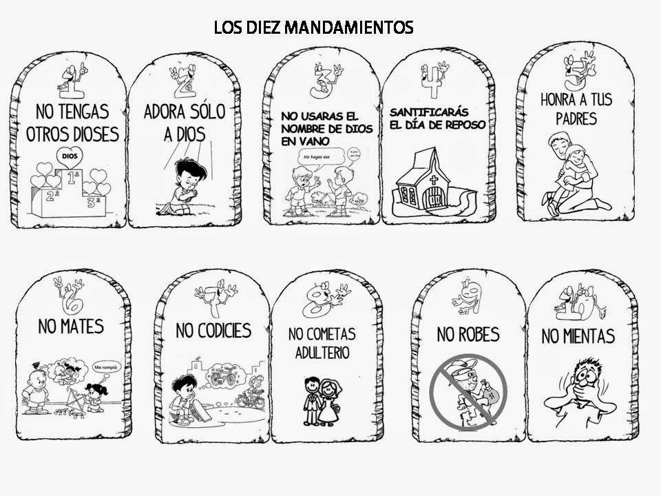 Resultado De Imagen Para Los Mandamientos En Dibujo Bible Crafts Bible Activities For Kids Bible Crafts For Kids
