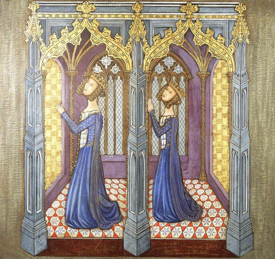 bbc your paintings reconstruction of medieval mural