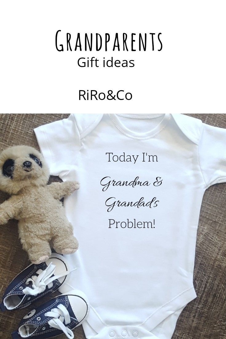A gift for the new grandparents today im grandma