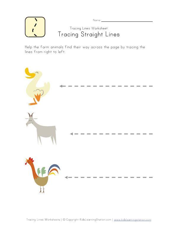 Sleeping Line Pattern Worksheets For Kindergarten