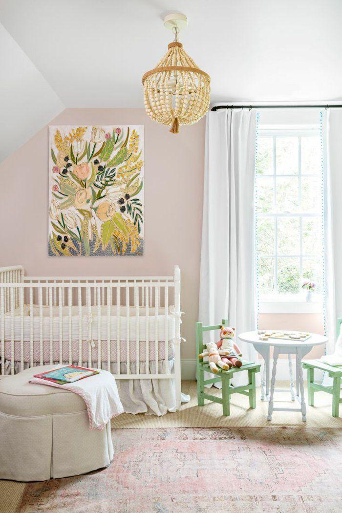 Vintage Teppich Wohnideen Kinderzimmer Babyzimmer Gestalten Hellrosa Wände