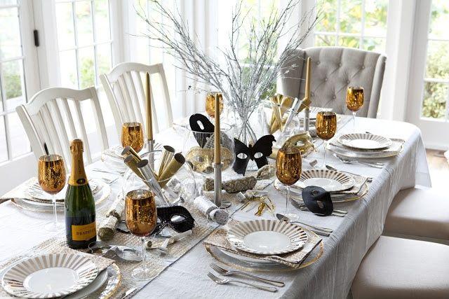 Jolies tables pour le réveillon du nouvel an - Floriane Lemarié