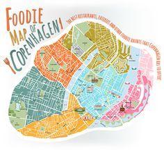 Copenhagen Foodie Map Rejser Europa Rejser Kobenhavn Denmark