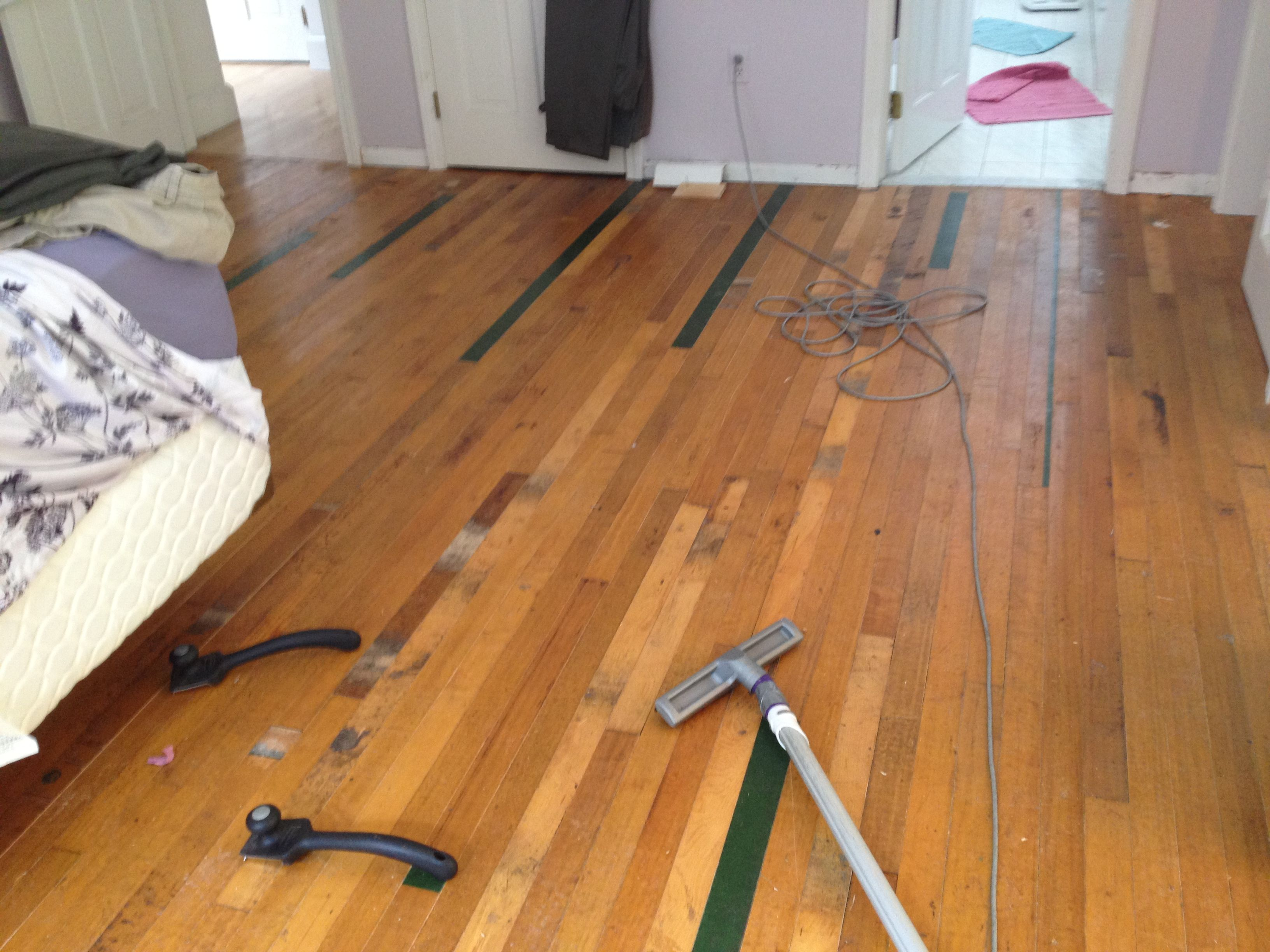 We Did It Our Very Own Reclaimed Gym Floor Step One In