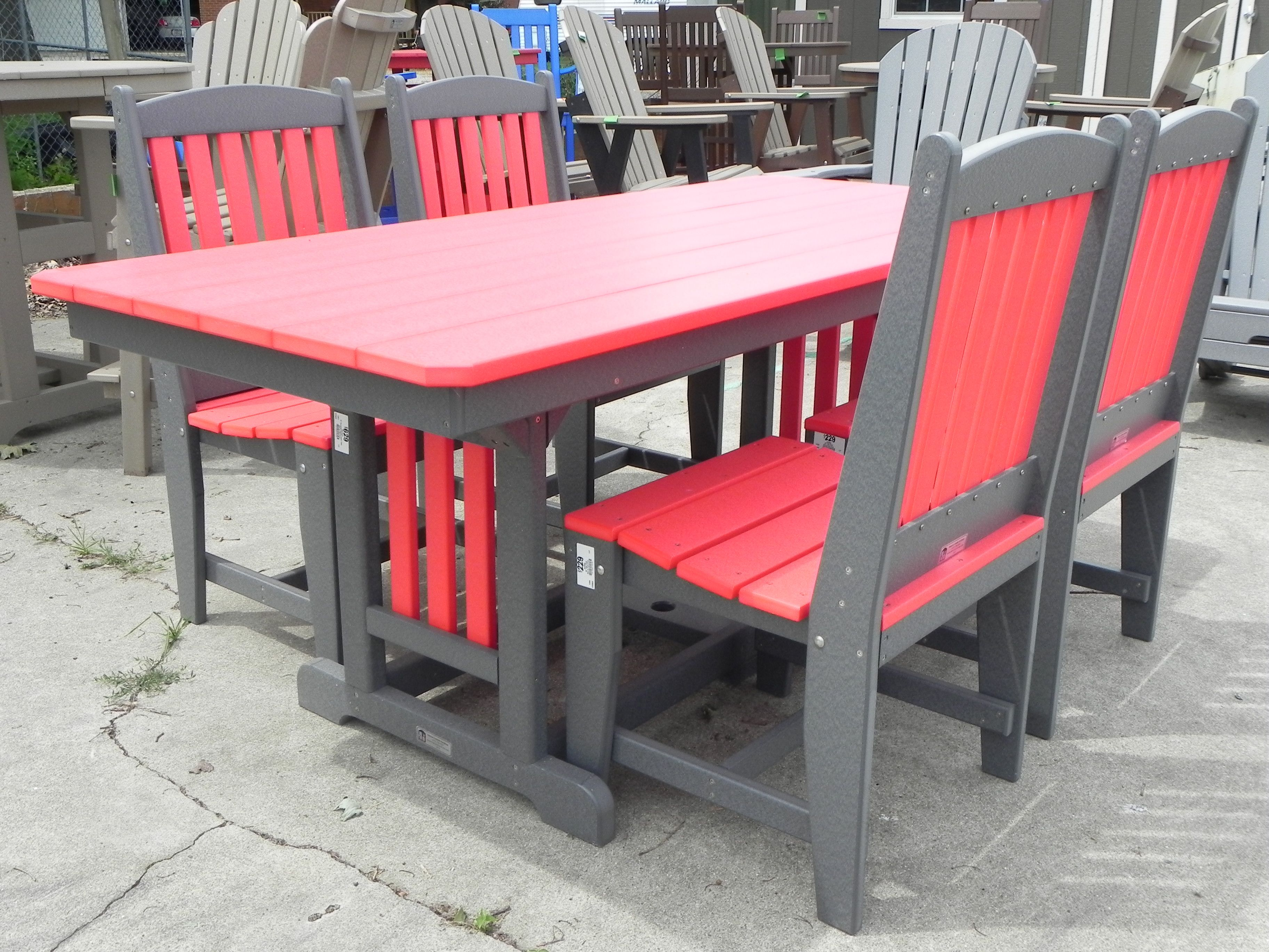 Amish built Outdoor Poly Furniture Made from recycled milk jugs