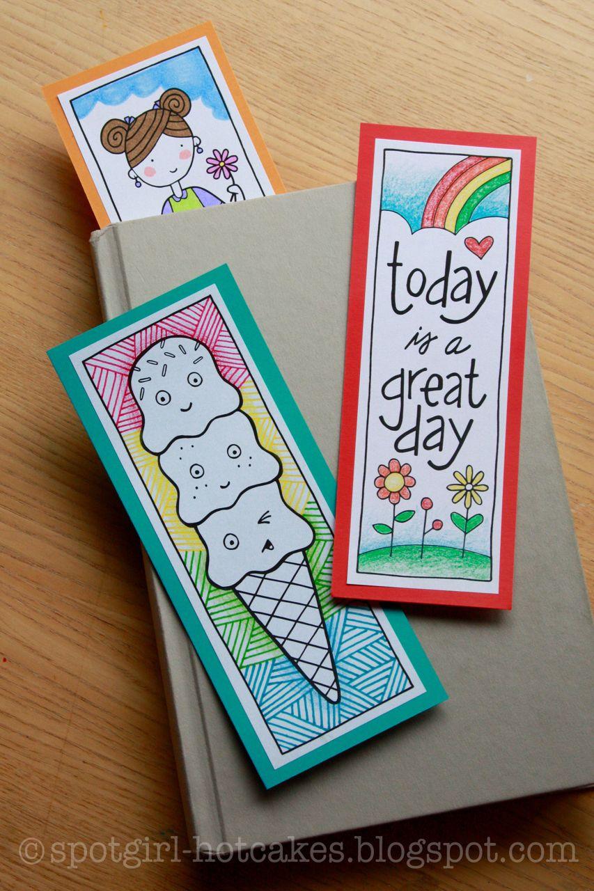 Printable Wednesday Three Bookmarks Bookmarks Handmade Handmade Bookmarks Diy Creative Bookmarks