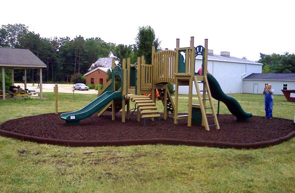 Rubber Timbers 8 Pack Playground Rubber Mulch