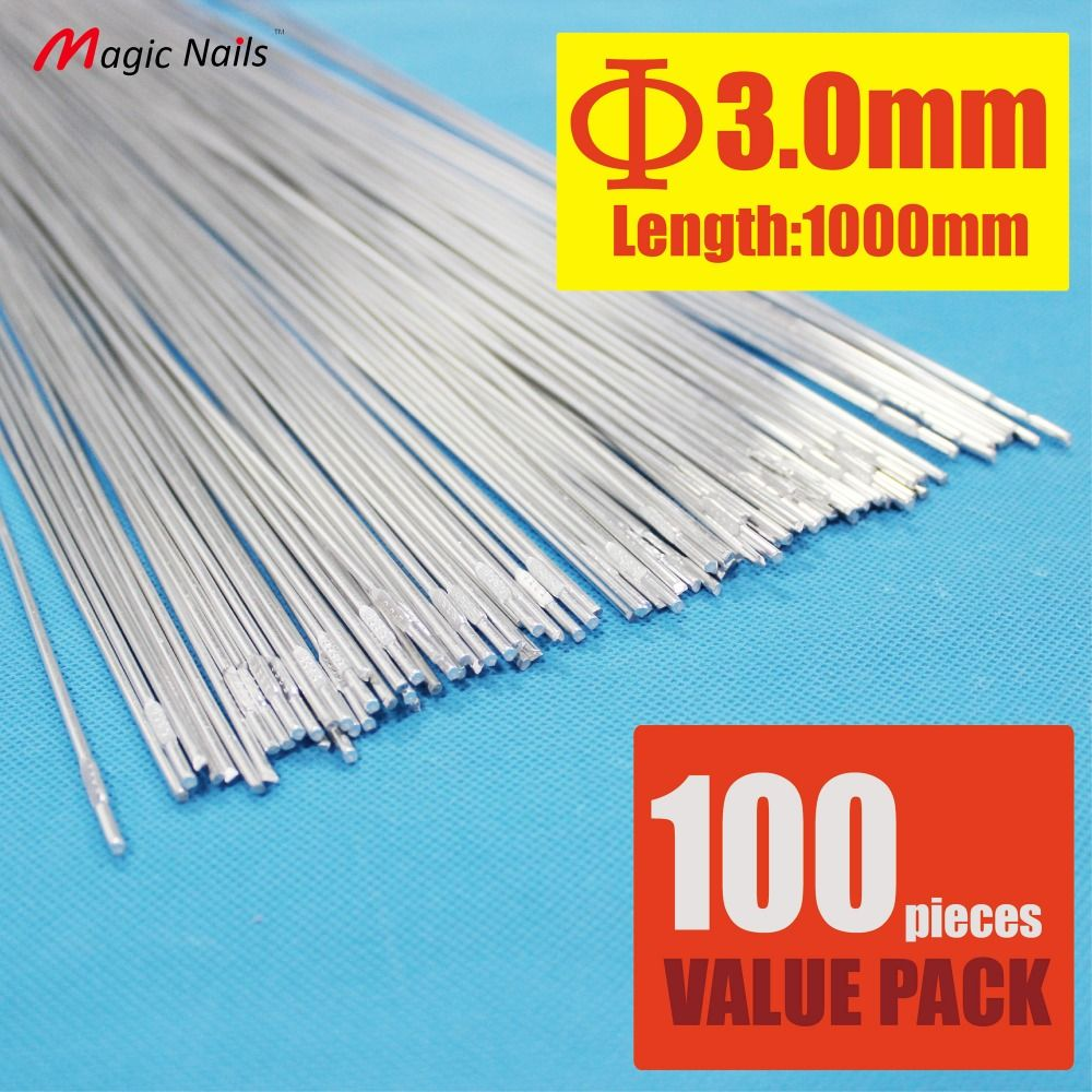 Pack of 100 Aluminum Brazing Rod Wire Electrode 3.0X1000mm for cast ...