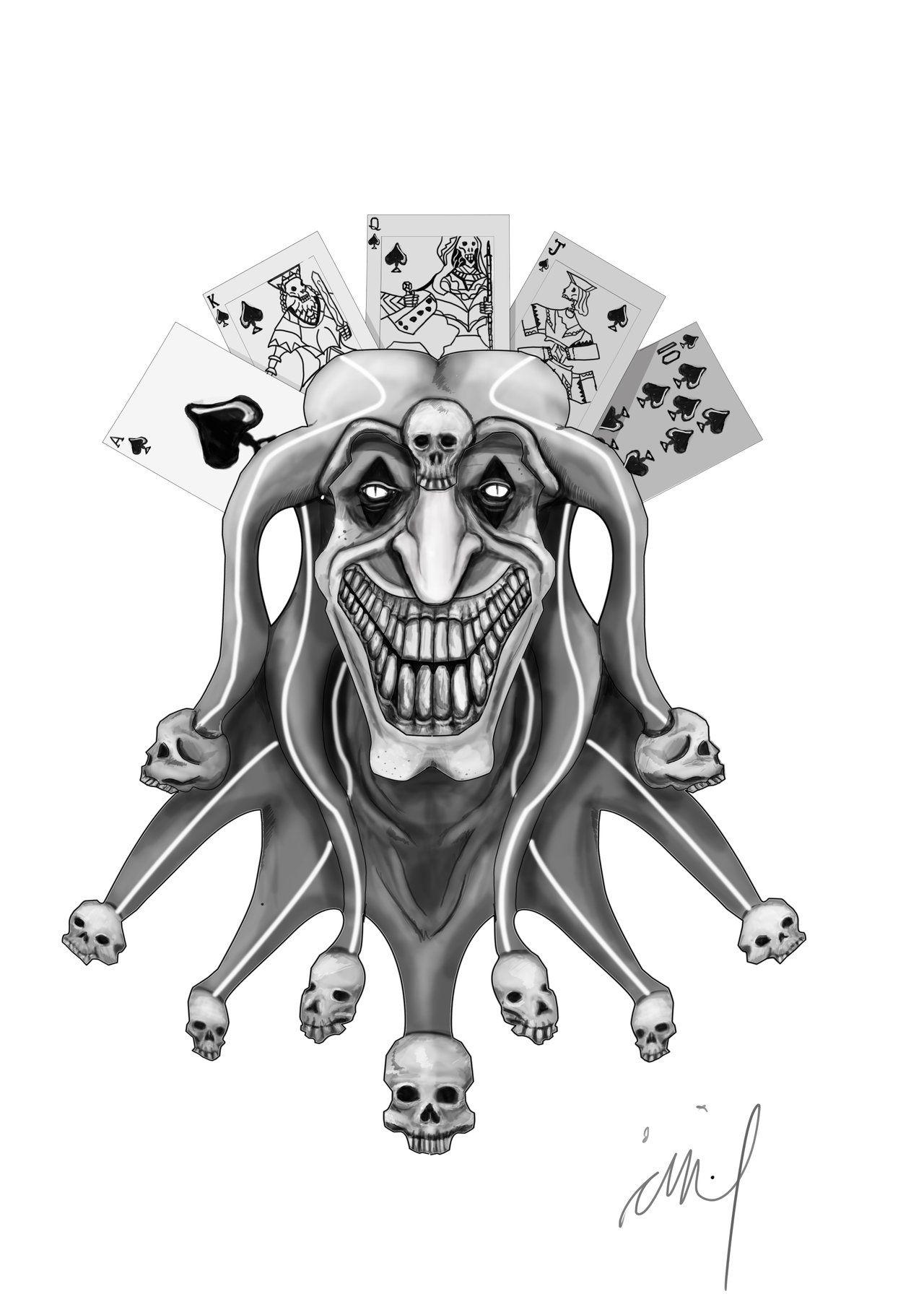 Joker Tattoo Design By Langkjaer.deviantart.com On @DeviantArt ...