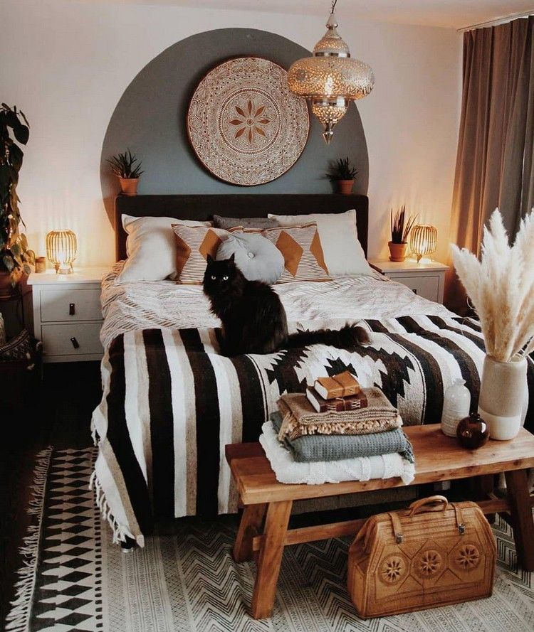 Bohemian Bedroom #bohemianbedrooms