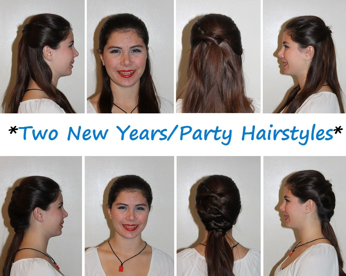Two New Years Party Hairstyles Loveyskunk Hair Hairstyles Easy Party Hairstyles Hair Styles Girly Hairstyles