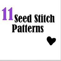 Find 11 free patterns with the seed stitch in this charming collection of patterns.