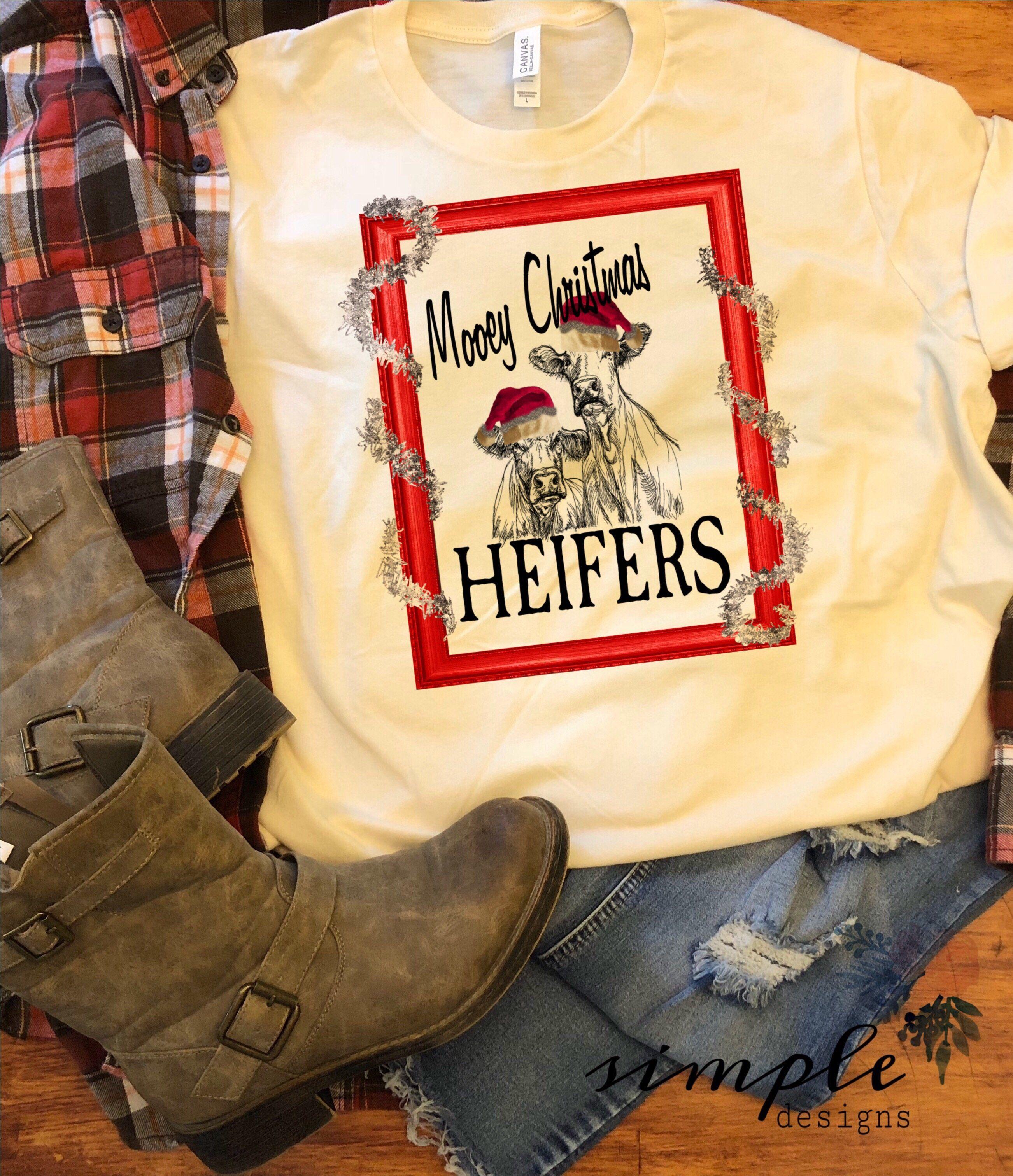 60296714 Mooey Christmas Shirt, Christmas Apparel, Christmas Cow T-shirt ...