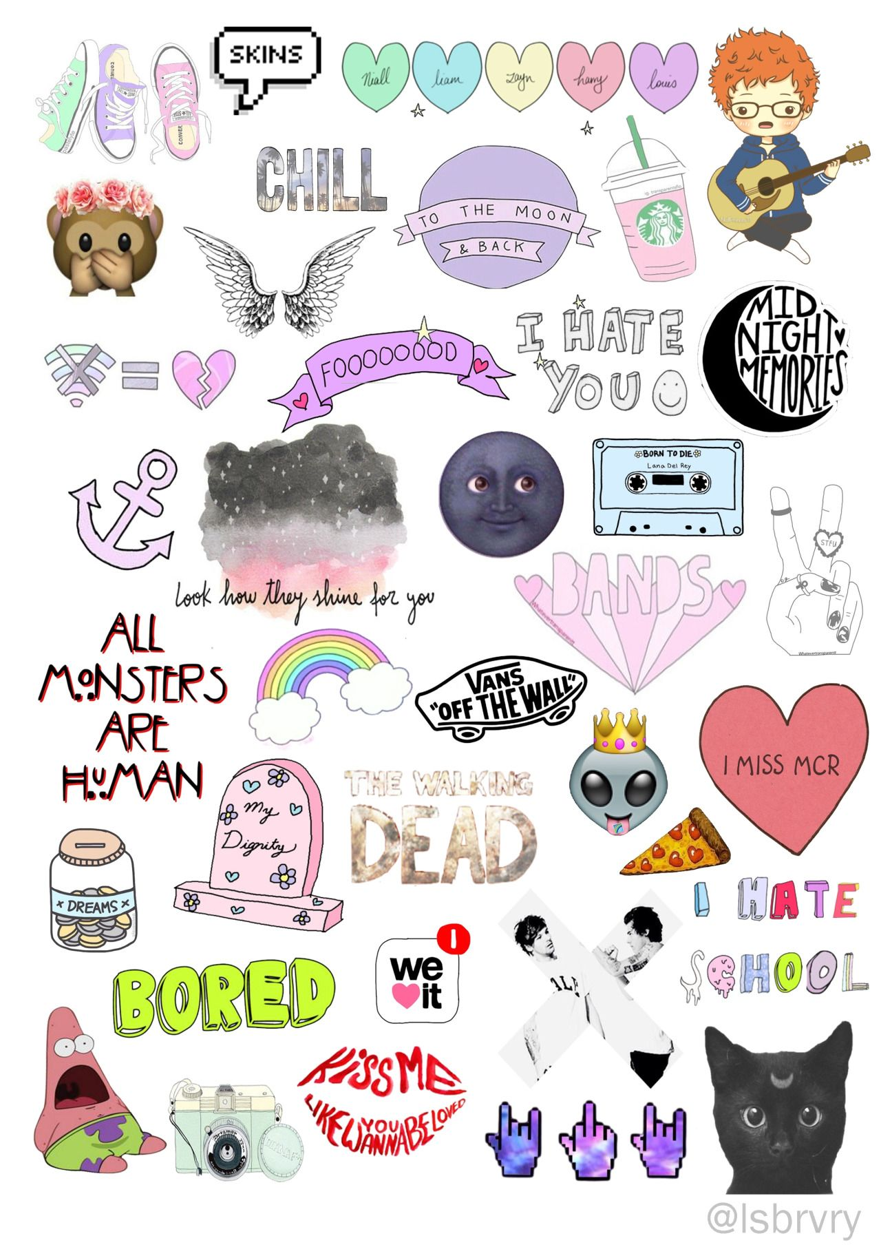 Cute Overlays Tumblr Stickers Overlays Transparent Aesthetic Stickers