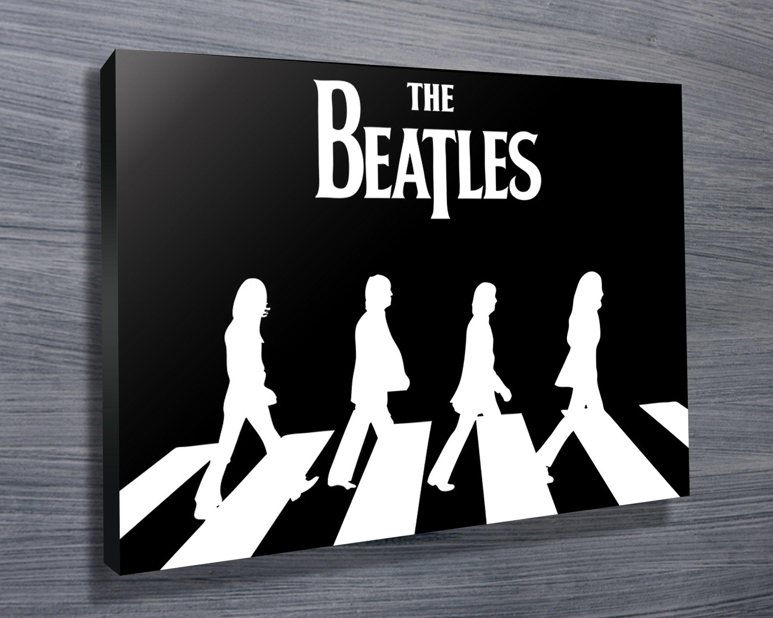 All Sizes The Beatles Abbey Road BOX CANVAS Art Print Black /& White
