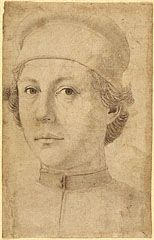 Portrait of a Young Man   Attributed to Piero del Pollaiuolo  Italian, about 1470  Pen and brown ink over black chalk  14 1/4 x 9 in.  2012.3
